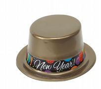 New Year Cheer Plastic Top Hat